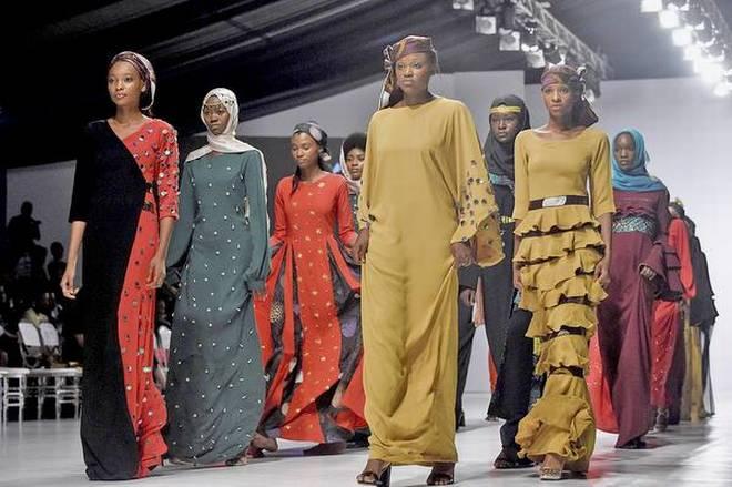 Показ коллекции молодого нигерийского модельера Ибрахима Амину