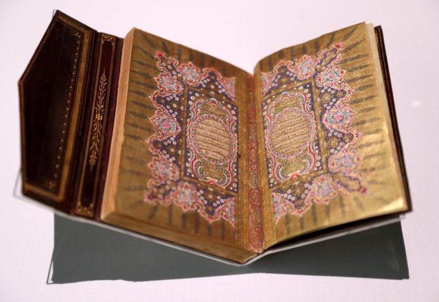 Османский Коран на выставке в Мечети шейха Зайда. Источник: thenational.ae