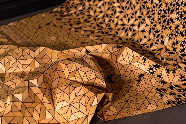 Elisa Strozyk, 'Wooden Textiles', installation view / Photo © Islamic Arts Magazine